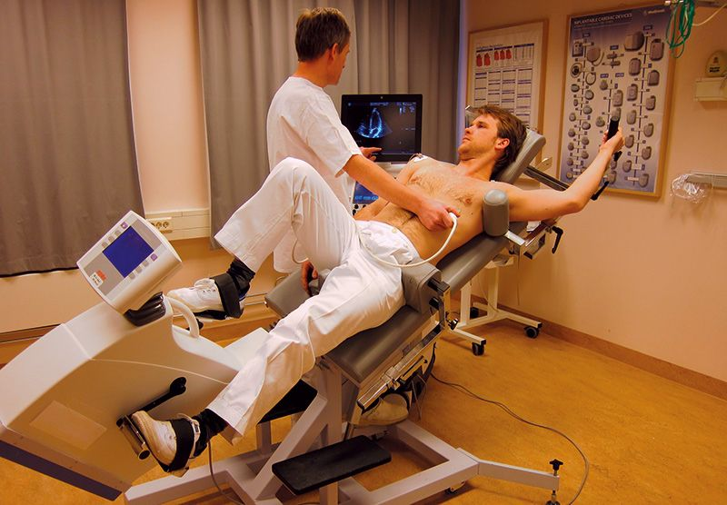 stress echo with semi-supine bicycle